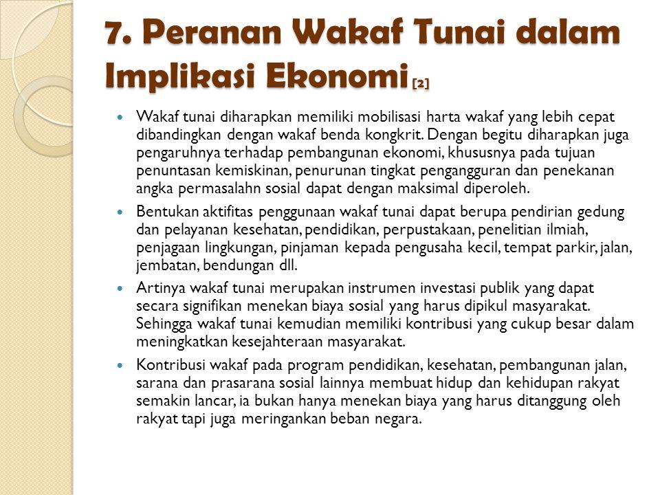 7. Peranan Wakaf Tunai dalam Implikasi Ekonomi [2]